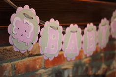 Gray and Purple Elephant for Girl Baby by TheJoyfulHauss, $18.00 Baby Shower Elephant Banner