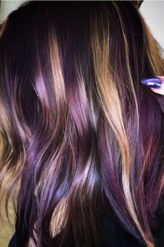 Are you looking to spice up your old hair and try something fun? These are the newest hair color trends that you need to try out immediately. 2018 is full of new hair color trends will make you feel brand new and confident. Hair Color And Cut, Ombre Hair Color, New Hair Colors, Cool Hair Color, Purple Hair Highlights, Mahogany Highlights, Purple Hair Streaks, Magenta Hair Colors, New Hair Color Trends