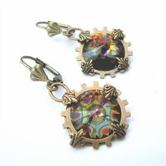 Steampunk earrings by Rivkasmom by rivkasmom, via Flickr