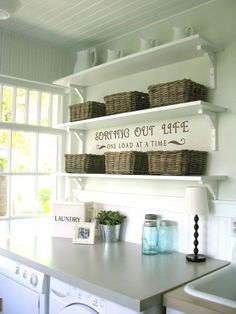 great laundry room idea