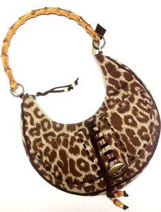Guess Leopard Print Purse Bamboo Handle Handbag  GUESS  Handbag Guess  Handbags 30b45e62dcb1a