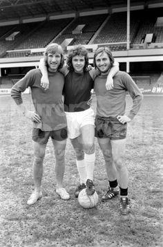 David Essex ( singer/ Actor)Lifelong West Ham Fan with Billy Bonds and Frank Lampard senior at Upton Park