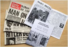 Our unique history resources and free education packs can help your students discover the causes and consequences of historical events using newspapers. Free Teaching Resources, Teaching History, Teacher Resources, Teaching Ideas, Historic Newspapers, Major Events, Free Education, Us History, Titanic