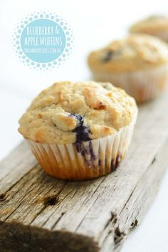 {NEW} BLUEBERRY, APPLE LEMON MUFFIN: A yummy new muffin recipe to add to our collection. They make the most of the delicious fresh blueberries which are now in season and great value. Muffin Recipes, Baby Food Recipes, Sweet Recipes, Baking Recipes, Snack Recipes, Snacks, Apple Recipes, Lemon Muffins, Apple Muffins