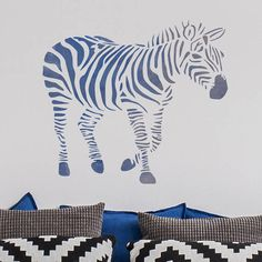 Our CraftStar Zebra stencil features a beautifully detailed striped Zebra. This large stencil is perfect for creating unique and stunning features on your walls, on canvas or wooden plaques. CraftStar stencils are laser cut from a premium Mylar polyester film. Stencils are incredibly