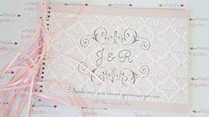 Livro de assinaturas c/ 48 folhas - Ateliê Algodão Doce