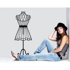 Style and Apply Mannequin Wall Decal Art Home Decor ( 12in x 31in)