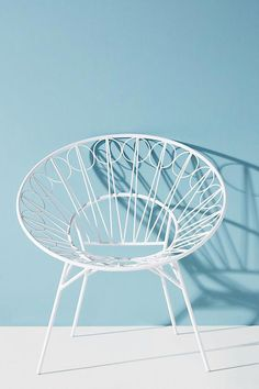 Ancer Indoor/Outdoor Chair by Tracey Boyd in White Size: All, Outdoor at Anthropologie Comfy Armchair, Modern Armchair, Outdoor Chairs, Indoor Outdoor, Outdoor Rooms, Outdoor Furniture, Upholstered Swivel Chairs, Arm Chairs, Upholstering Chairs