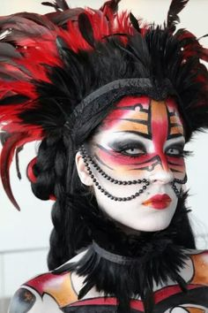 ideas for makeup halloween witch goth Maquillage Halloween, Halloween Face Makeup, Tribal Makeup, Art Visage, Extreme Makeup, Fantasy Make Up, Theatrical Makeup, Make Up Art, Special Effects Makeup