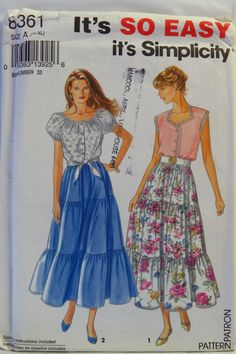 Simplicity 8361 Misses' Top and Skirt