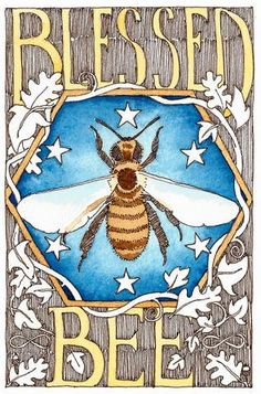 "Blessed Bee  5"" x 7""  print by Danielle Barlow. £7.00, via Etsy."