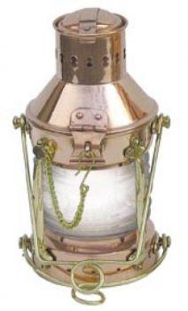 Ankerlampe Kupfer/Messing, elektrisch 230V, H: 24cm