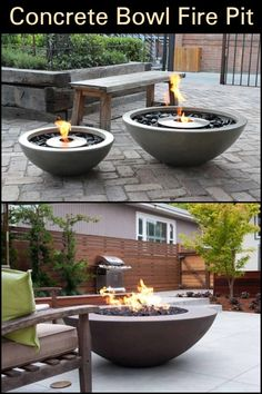 Here's a modern DIY concrete outdoor fire bowl that will help to get your backyard ready for summertime entertaining. Here's a modern DIY concrete outdoor fire bowl that will help to get your backyard ready for summertime entertaining. Fire Pit Bowl, Fire Pit Ring, Fire Pit Area, Fire Bowls, Diy Fire Pit, Fire Pit Backyard, Diy Propane Fire Pit, Backyard Seating, Concrete Patios