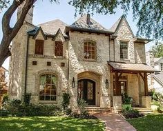 stone facade and steep hip roof remind you of the Old World charm of Europe in this stunning narrow lot home plan.A stone facade and steep hip roof remind you of the Old World charm of Europe in this stunning narrow lot home plan. Narrow House Plans, Architecture Design, Classical Architecture, Stone Facade, Hip Roof, Old World Charm, Old World Style, Interior Exterior, Mansion Interior