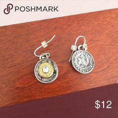 Bullet shell earrings Worn a few times. Turned/antique looking Jewelry Earrings