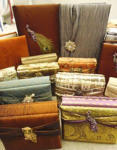 NEW Handmade photo albums from Bella Becho Book & Print Bindery are in! These beautiful fabric covered albums with decorative embellishments are locally made and make wonderful gifts.