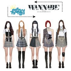 Kpop Fashion Outfits, Stage Outfits, Edgy Outfits, Fall Outfits, Dance Outfits, Korea Dress, Character Inspired Outfits, Street Outfit, Polyvore Outfits