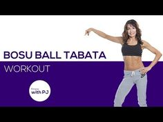 BOSU Ball Tabata Home Workout - YouTube