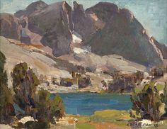 Edgar Alwin Payne (1883 - 1947). Lake in a Sierra Landscape. Oil on canvas