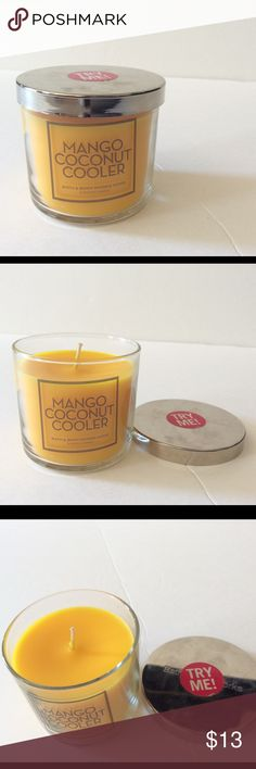 Bath & Body Works Home Scented Candle BRAND NEW  ~Bath & Body Works ~ *Mango Coconut Cooler / (Scented Candle)  \ 4 OZ  NO TRADE / PRICE IS FINAL Bath & Body Works Other
