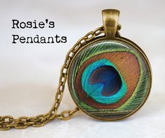 Peacock Feather Eye by RosiesPendants on Etsy