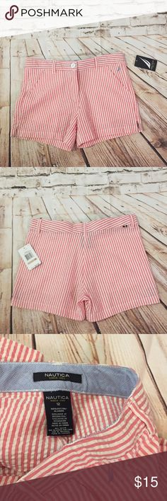 NWT Nautica Sz 12 girls pinstripe boat shorts New with tags Nautica Bottoms Shorts