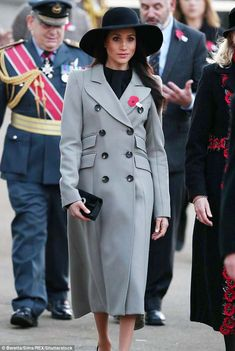 Meghan Markle (pictured) has been spotted wearing several garments from Canadian brand Smythe. FoundersAndrea Lenczner, 46, and Christie Smythe, 45 revealed how the'Meghan Effect' has boosted the brand