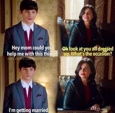 Regina's face