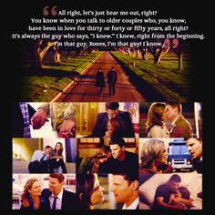 Booth and Brennan...I absolutely adore their relationship <3