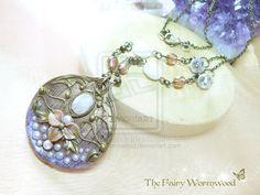 FairyMoon Nouveau Necklace by EnchantedTokenArt.deviantart.com on @deviantART