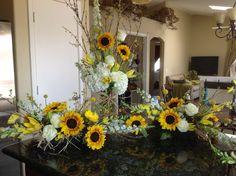 Sunflower wedding reception