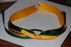 Gold and Emerald Green Streamer Pony o/Pig by lilibirdbowtique, $6.00