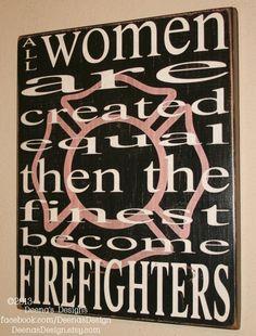 Female Firefighter Wall Art w/ Maltese Silhouette by DeenasDesign, $37.00