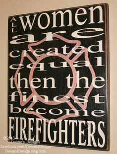 Female Firefighter Wall Art w/ Maltese Silhouette by DeenasDesign, $41.00