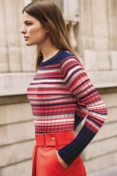 Buy Stripe Rib Sweater from the Next UK online shop