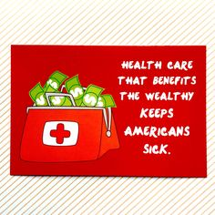 Protect Americans' Health Care Protest Postcard || 30% proceeds go to ACLU || health care, ACA, equality, activism, feminist, ides of trump by RhinoParade on Etsy https://www.etsy.com/listing/519299701/protect-americans-health-care-protest