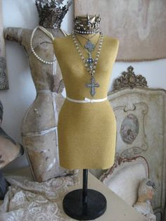 Love the vintage 1/2 scale dressforms