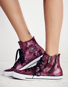 Converse Dual Zip Hi Top Chuck Taylors. Hi Top Converse, High Top Chucks, Converse Classic, Converse Shoes, Sock Shoes, Cute Shoes, Me Too Shoes, All About Shoes, Only Shoes