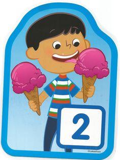 Numero 2 lámina, imagen, imprimir, preescolar, matematicas matemáticas número…
