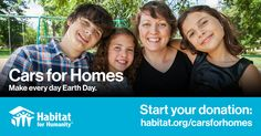 Donate a Car - Habitat for Humanity Riverside Facebook 1, Habitat For Humanity, Earth Day, Habitats, Social Media, Affordable Housing, Safe Place, Volunteers, Learning