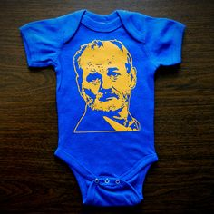 Bill Murray Pink Baby Onesie by TrulySanctuary Great Baby Shower Gift, First Birthday Gift Or Party Favor. $15.99, via Etsy.
