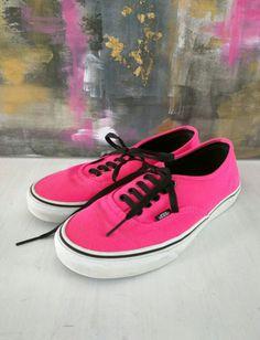 e13d12e20fc2cc Vintage Vans Neon Pink Authentic Van s Men s Size US 7.5M   Women s Size US  9M Skater Shoes   Hot Pink Van s Skateboard Shoe