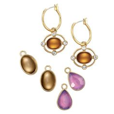 Opulent Clusters Interchangeable Hoop Earrings Set. Goldtone hoops with three sets of interchangeable drops. Shop and buy Avon jewelry products online at http://www.youravon.com/jennyhollenbeck