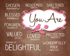 You arein Christ brown and pink 2 by mastomama on Etsy, $15.00
