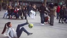 Amazing Street Football Skills By Lisa 15 years old