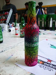 Art for Heineken. Celebrating 140th aniversary. #Heineken #YourFutureBottle