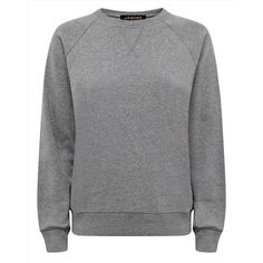 Jaeger Jaeger Cotton Jersey Sweatshirt (120 CAD) ❤ liked on Polyvore featuring tops, hoodies, sweatshirts, grey crewneck sweatshirt, embroidered sweatshirts, sweatshirts hoodies, sweat shirts and crewneck sweatshirt