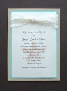 Turquoise And Kraft Invitation I Think We Can Make Something Similar For A