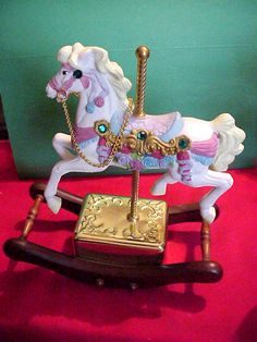 Westminster The Carouse Sculpture Collection Music Box and Horse Moves to Music | eBay