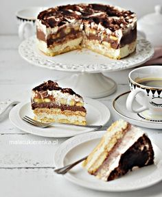 Ciasto Torcik Bananowe Niebo Bez Pieczenia - PRZEPIS Mała Cukierenka Baking Recipes, Cake Recipes, Dessert Recipes, Sweet Desserts, Sweet Recipes, Torte Cake, Polish Recipes, Cupcake Cakes, Sweet Treats